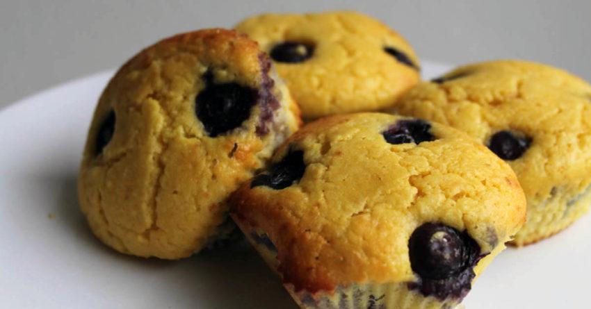 boruvkovy muffin