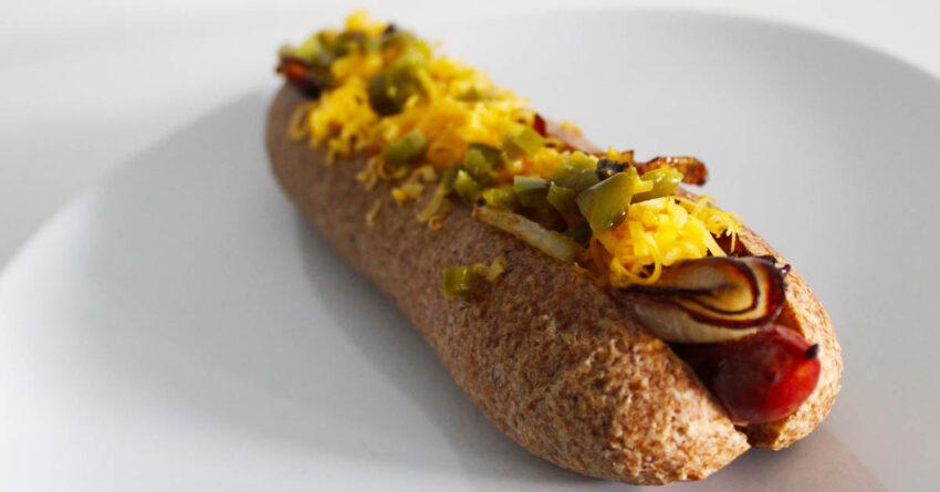 low carb hot dog houska